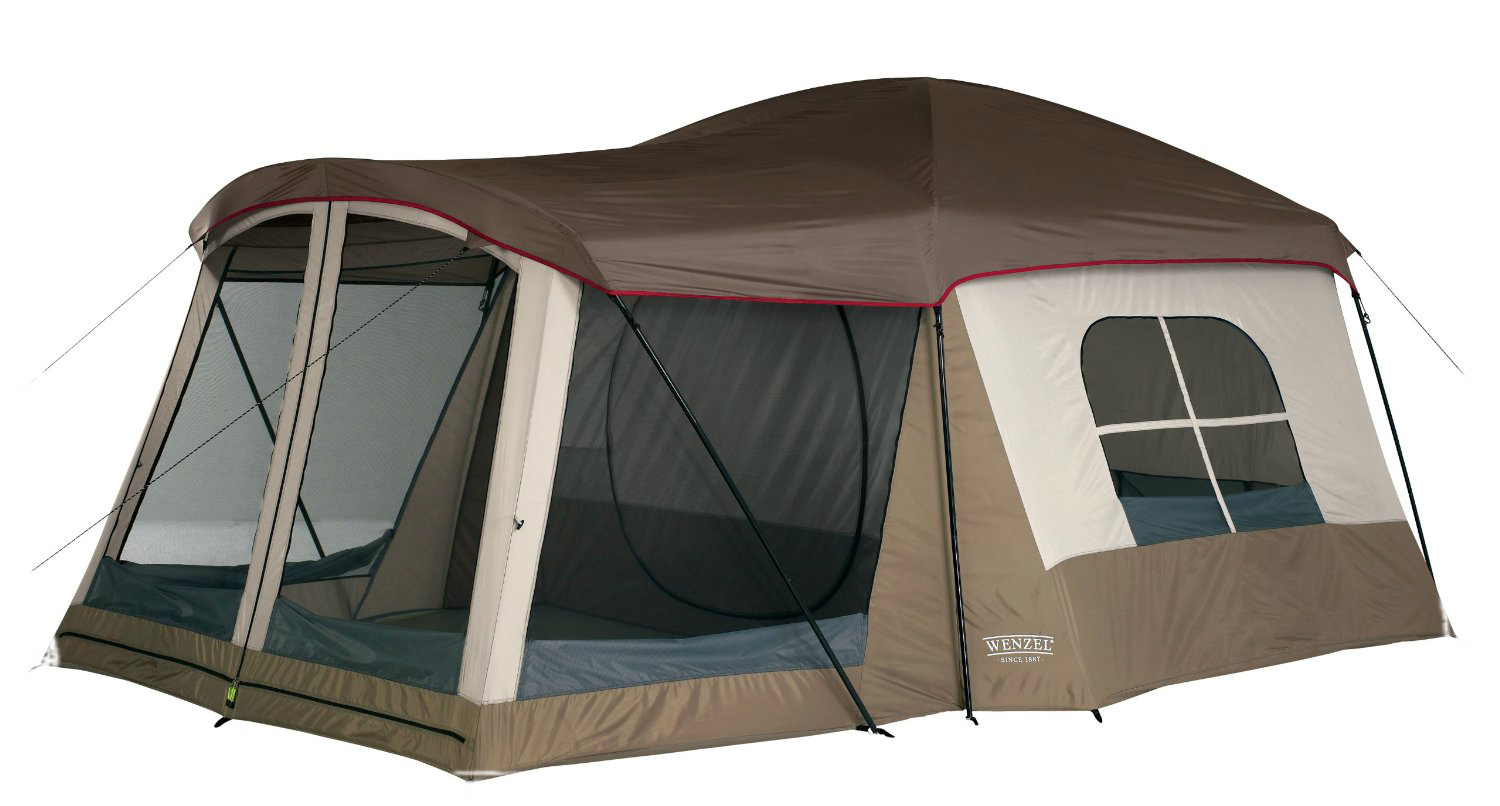 family camping tent viewing gallery