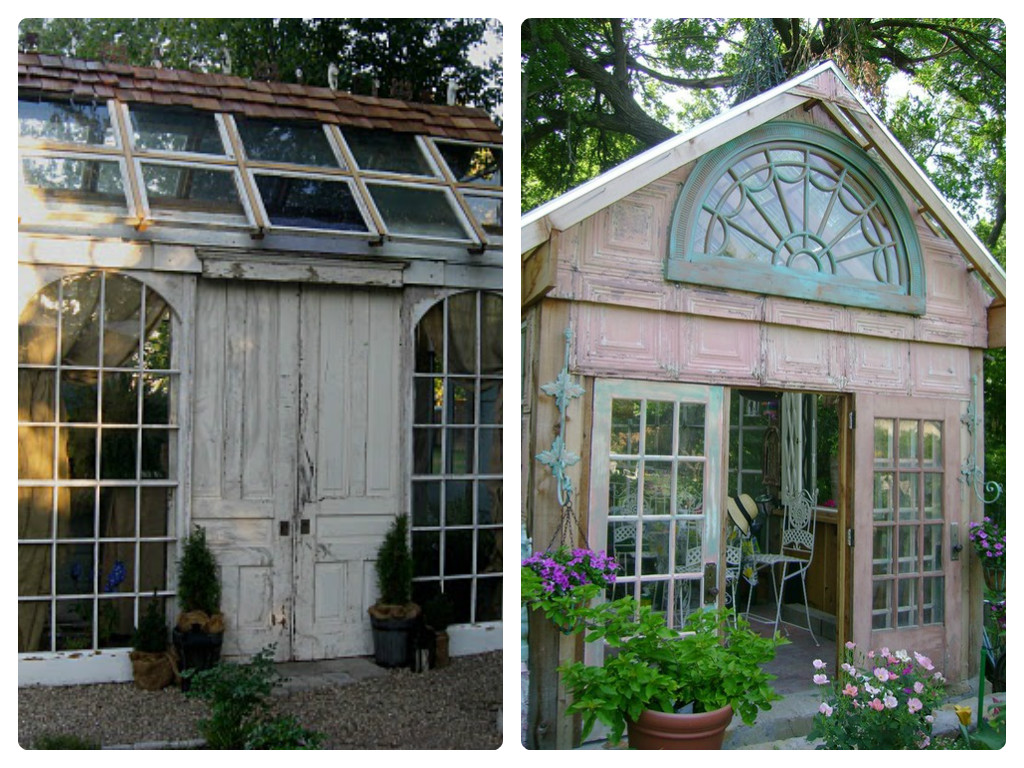 greenhouses made with salvaged windows shed - Garden Sheds With Windows